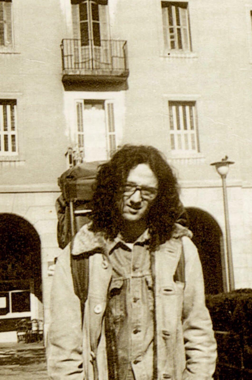 Roberto Bolaño en México DF.