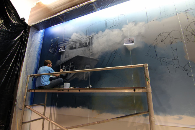painting the old time shop