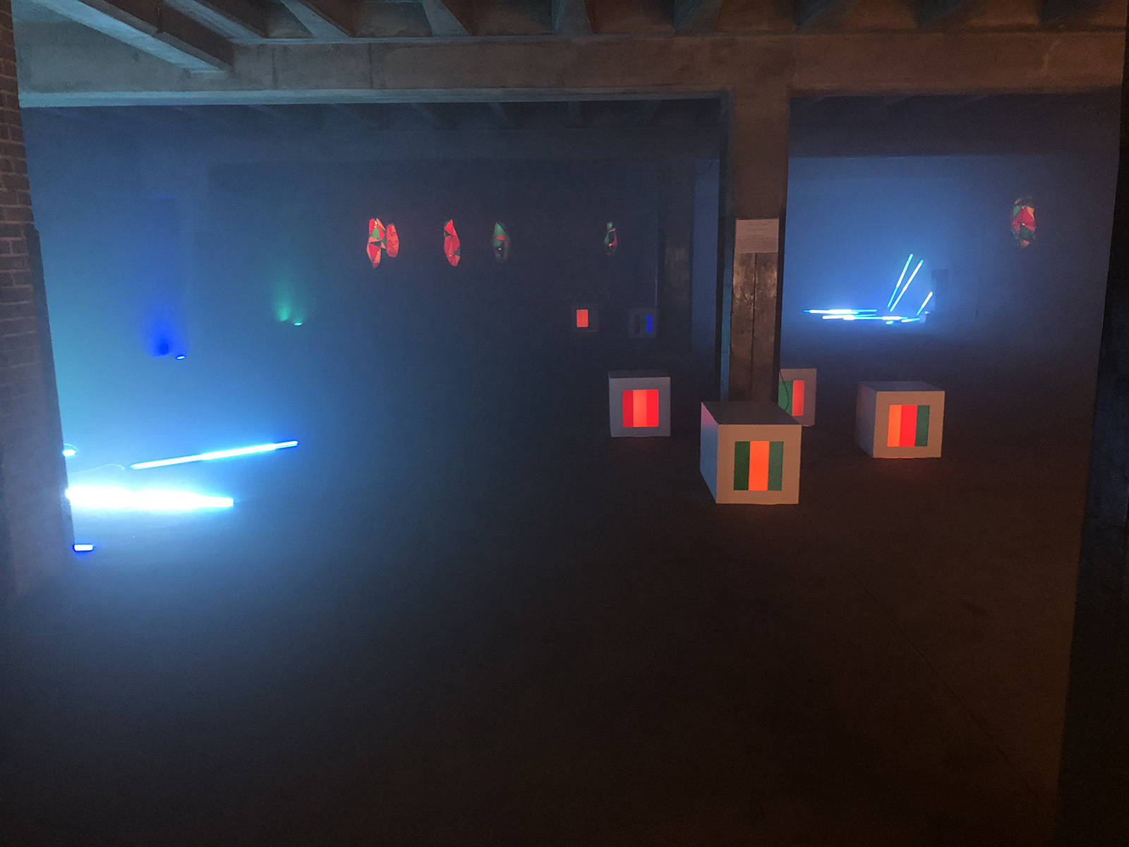 The first time I stepped into this basement, I recommend that Quincy Owens and Luke Crawley create a fully custom light installation in it. They made that happen and it was certainly one of the most memorable features of the night
