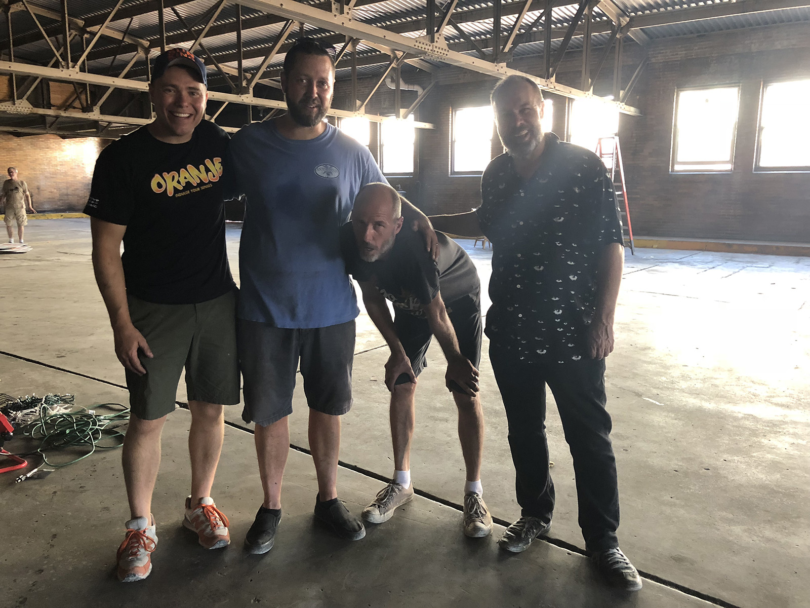 Me, Luke Crawley, Quincy Owens, & Kyle Ragsdale.. at this point I think we all felt like Quincy, but he has to be one of the hardest working artists in Indy and he often doesn't show it. We all busted our ass to pull this event off and I was extremely honored to play a small role in the events success.