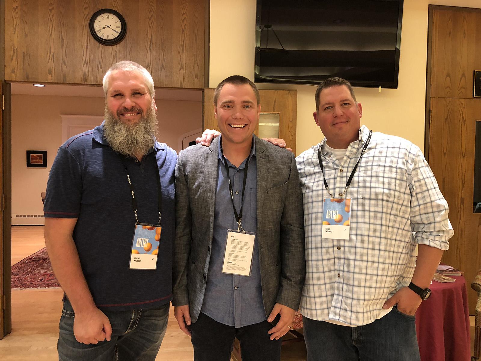 Shawn Krueger, Me, & Sean Witucki