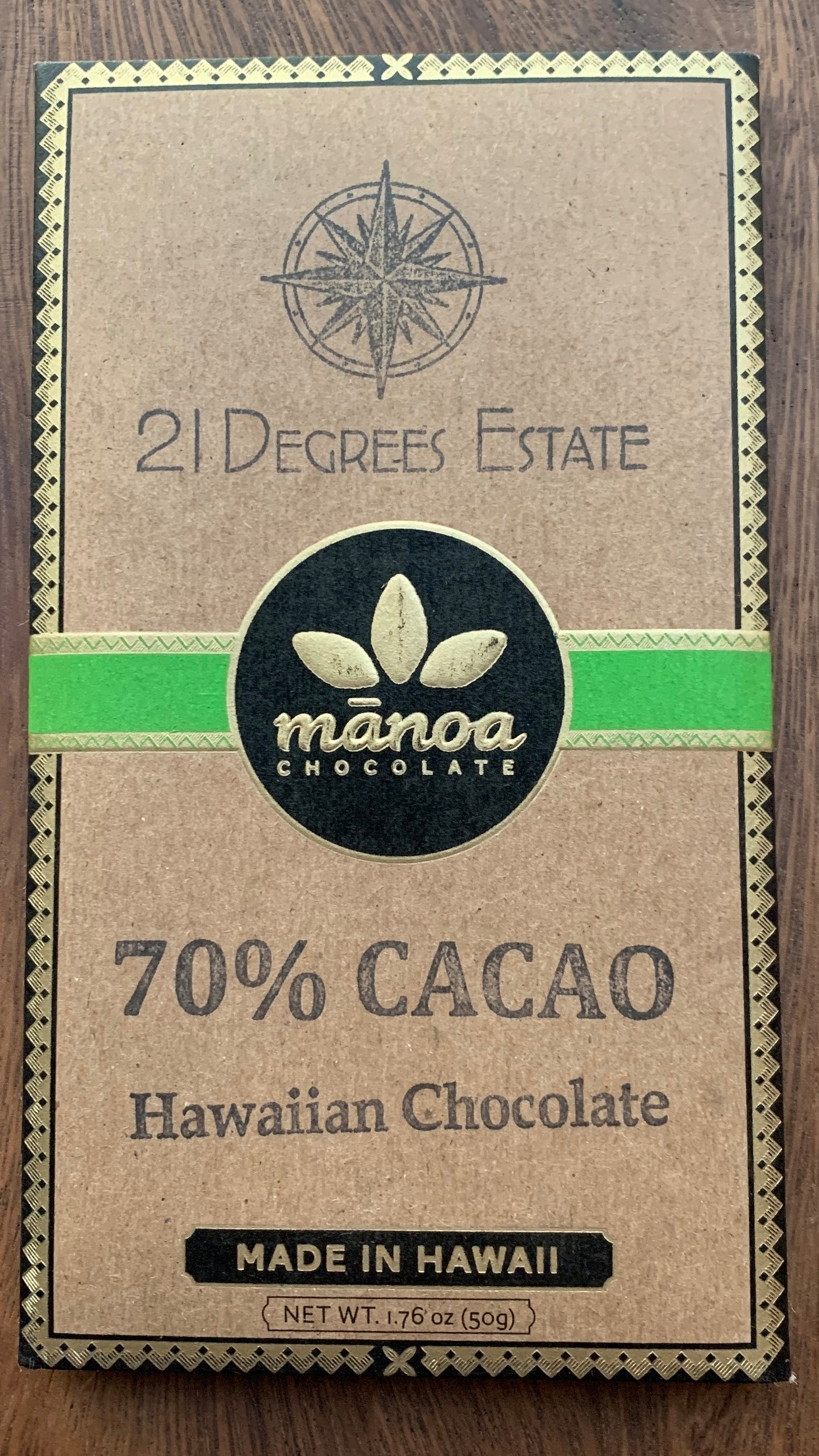 21º Estate / Manoa - Heavy Chocolate, mildly fruity.