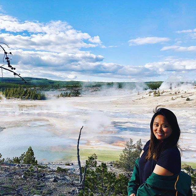 Can't believe it was my first time traveling to Yellowstone last year. Geysers & geothermal activity aren't really my thang since I grew up in the 🇵🇭 & lived in California, two places known for hot springs - and you can bathe in them! But Yellowstone 🏞 has so many incredible features you won't find anywhere else. The colors of the water have changed over time because of different environmental features, the little creatures that live in it & other fun geoscience facts at work. This was just our first 🛑 there's plenty more places like these coming up. ⠀⠀⠀⠀⠀⠀⠀⠀⠀ ⠀⠀⠀⠀⠀⠀⠀⠀⠀ ⠀⠀⠀⠀⠀⠀⠀ ⠀⠀⠀⠀⠀⠀⠀⠀⠀ #slowtravel #travelinspiration #adventure #roadtrip #hiddengem #yellowstonenationalpark #yellowstone #nationalpark #outdoorgirls #goexplorewander #travelicita #girlsthatwander #traveldeeper #ethicaltravel #greentravel #conscioustravel #sustainableliving
