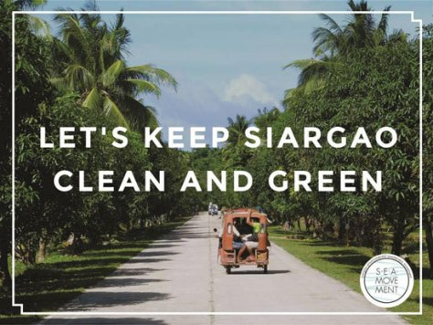 You'll find posters like this by Sea Movement all throughout Siargao.