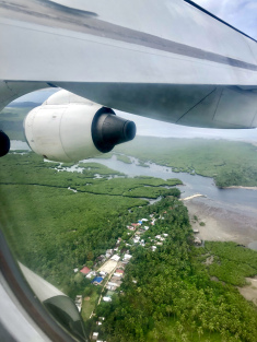 Flying over Siargao's mangroves & settlements. By Beverly Rose