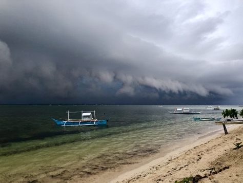 A storm is brewin' here in Siargao. By Beverly Rose