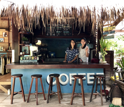 @Fili Beans with Maddy in Harana Surf Resort, Siargao. By Beverly Rose