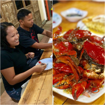 Mmmm garlic-flavored crabs! Thanks Ate Ivy. By Beverly Rose