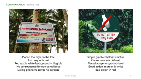 Sample page from my deliverable: actionable recommendations for Siargao.