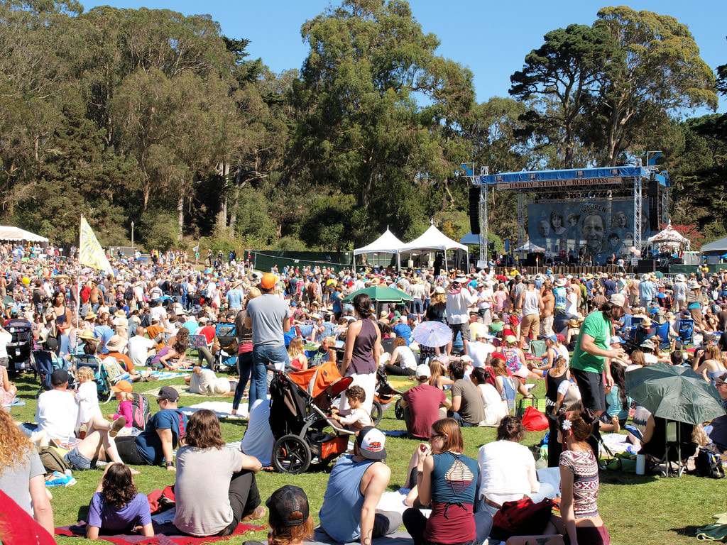Hardly strictly bluegrass festival -