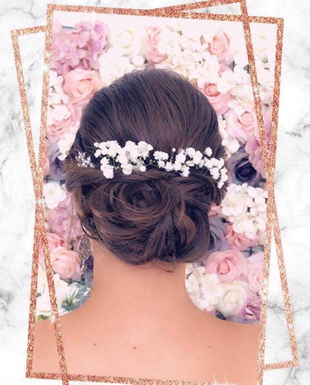 Bridal hair -  SW❤️❤️N Courtesy of our amazing stylist @gracieloveshair . . . #bridalhair #nycbride #nycbridal #nyc #fidi #seaportdistrict #nycwedding #nycweddings #nycbridemakeup #nycmakeup