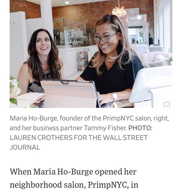 OMG We're in the Wall Street Journal! In my previous work life, it was part of my job to get company execs into the media and now it's hard to believe that I'm the one getting press coverage!! Please come over to the salon and see what I'm working so hard doing - we just added haircuts and soon will be adding color!! I'm busy bringing high level salon services to my fave neighborhood!! . . . Thank you Anne Kadet and @marie012345 !! #fidi #seaportdistrict #financialdistrict #wallstreet #seaport