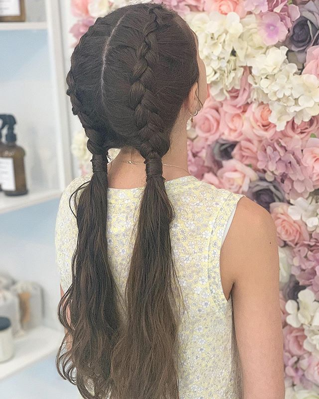 PrimpNYC loves doing custom braids for our clients. How cute is this!?!?! #braids #braidbar #hairbraidingnyc #nychairstylist #nychairsalon