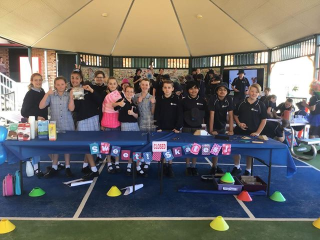 Students from the Year 6 Business and Economics program host a Selling Day to raise funds for the Hay for Hope Campaign.
