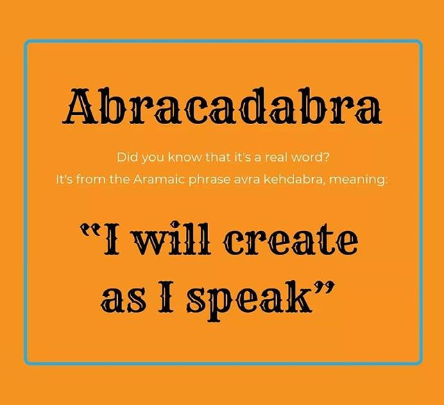 What a magical word!  #abracadabra #magic