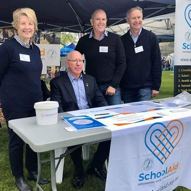 SchoolAid were in attendance at the Government House Open Day yesterday to meet our new Patron, His Excellency General the Honourable David Hurley AC DSC (Retd). Our Board Members really enjoyed their first meeting with the new Governor-General of Australia and SchoolAid Patron.  They also got to meet Mrs Hurley - did you know that she has a teaching background and has a passion for youth? We were very impressed at learning this about her.  SchoolAid was represented by Dennis Yarrington (Director), Narelle Barker (Director), Jenni Sadler (Volunteer) and CEO Sean Gordon.