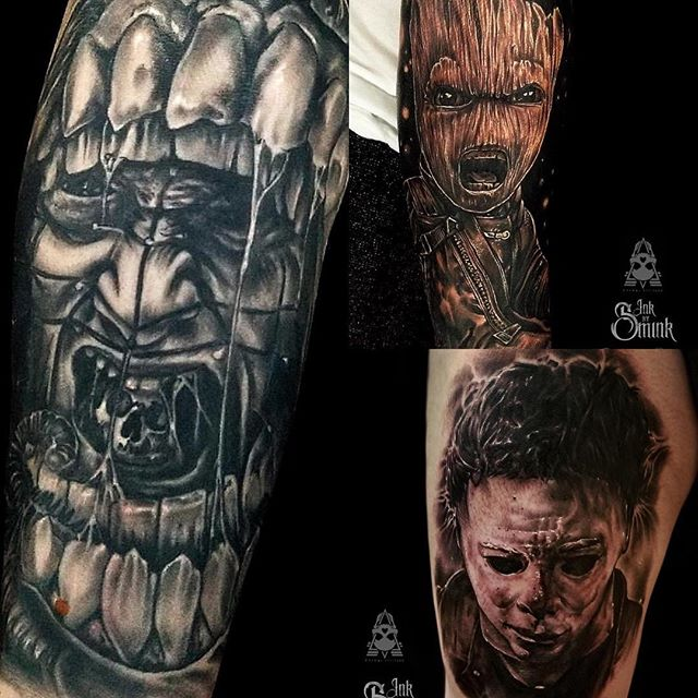 @inkbysmink will be joining us on April 22-24th here at the shop! Please take this opportunity as his slots are filling up quickly! Feel free to contact the shop or DM him directly to book! @inkbysmink  @inkbysmink  @inkbysmink • • • • #tatuajes #tattoo #tattoos #tattooed #tattoolife #inked #inkedlife #inkmagazine #artwork  #skinart #tattooart #instagood #vancity #yvr #vancouvertattooartist #ink #instamood #art #thirdeyetattooparlour #newwest #newwestminster #primalattitude @primalattitude #facetattoo #vancity  #fullsleevetattoo #fullsleeve #backpiece #handtattoo