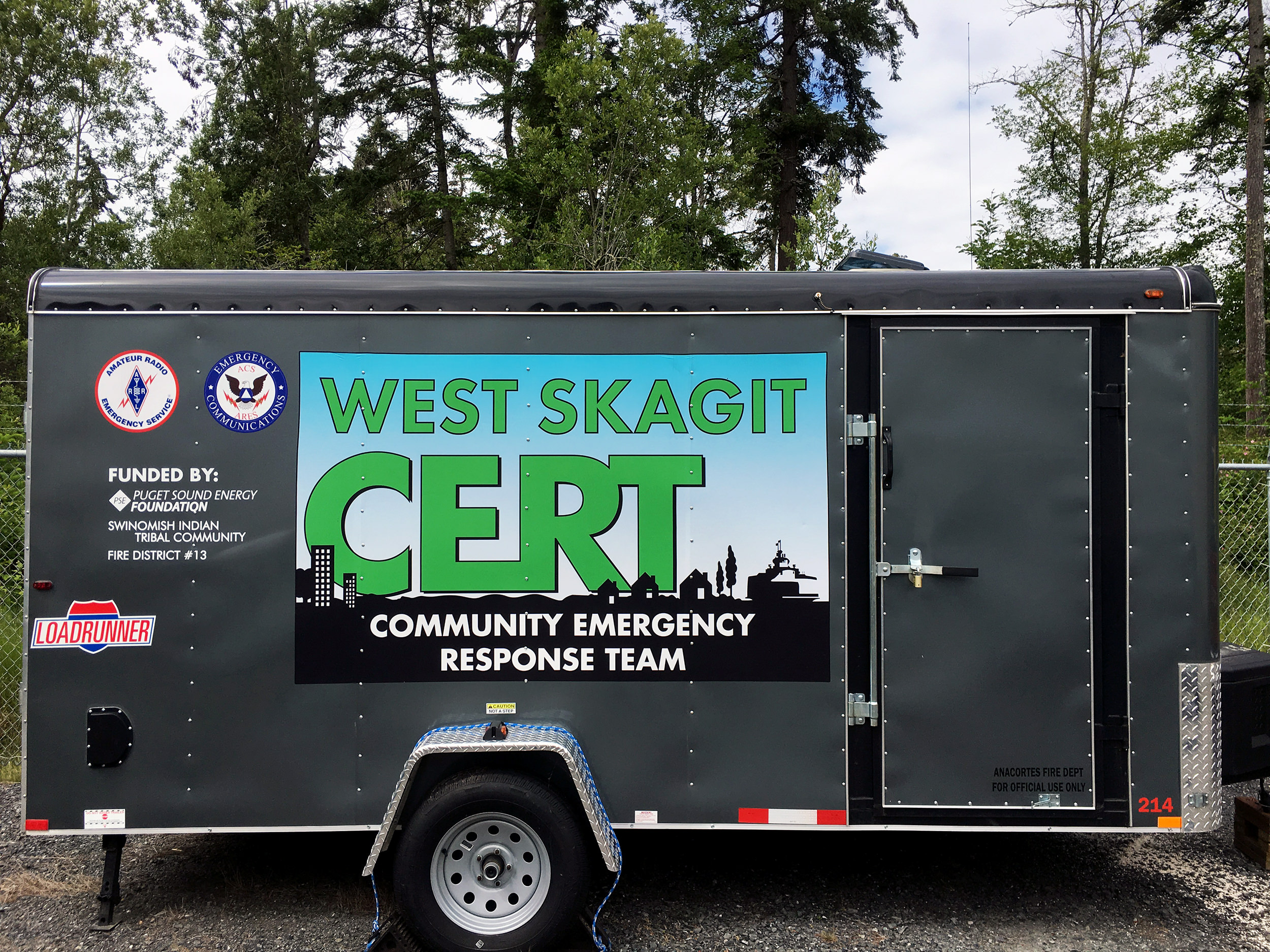 Community Emergency Response Team emergency response trailer