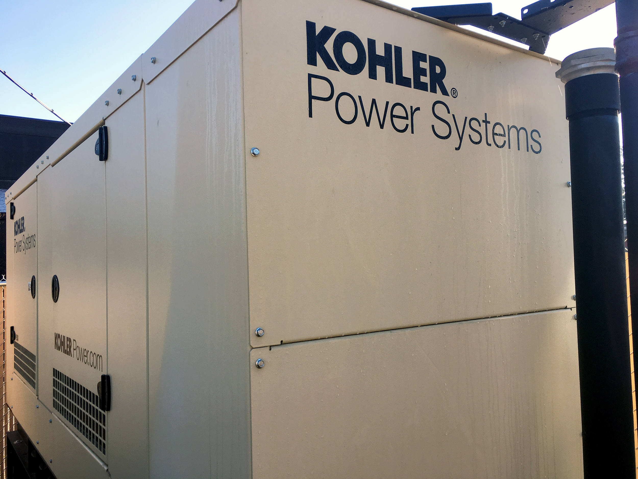 A new generator was installed in preparation of power outages