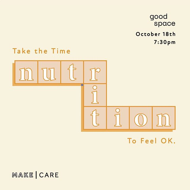 You know eating healthier is the key to health, but what are you actually supposed to eat?  Join Naturopathic Dr. @kayleealtonhealth , in partnership with @goodspaceto, for an evening discussing all things nutrition 🍎: from how to eat for your body, what dietary programs are used for bloating, anxiety, depression, and weight loss, to nutritional needs for building strong hormones. 🍁 Come learn and move with us! $35, link in bio for ticket purchase.