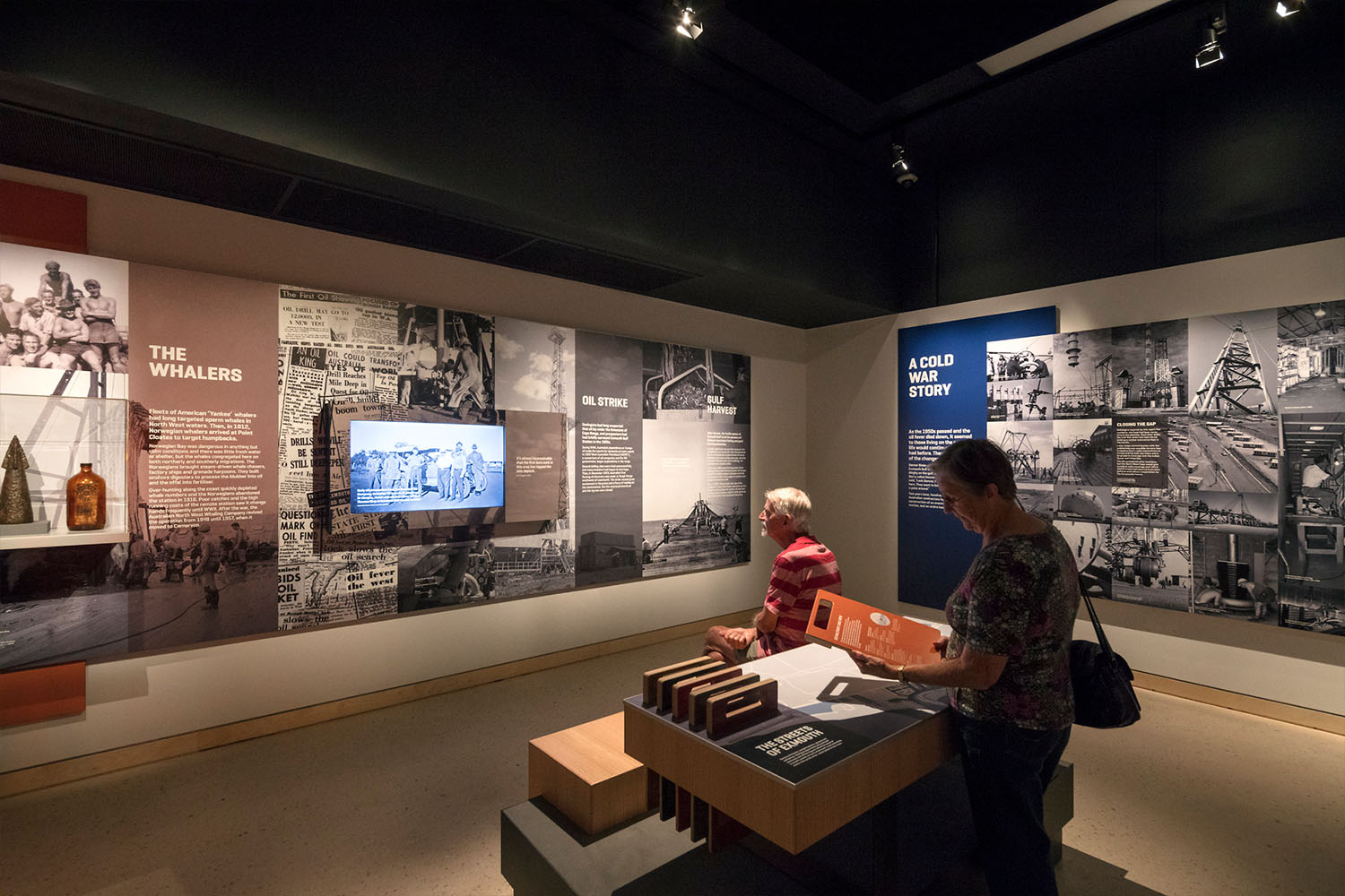 Ningaloo Centre. Personal stories of bravery and hardship throughout the history of Exmouth are evoked via interpretive installations and historical imagery.