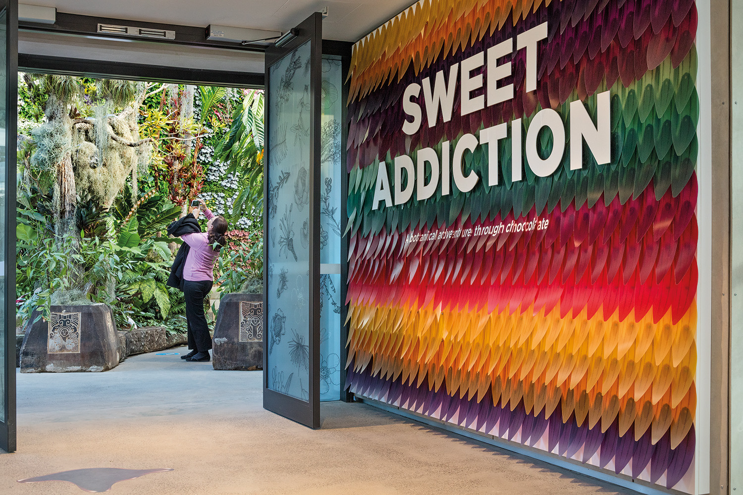 A unique horticultural exhibit, Sweet Addiction told the story of chocolate: its origins, production methods and extraordinary popularity across the globe.