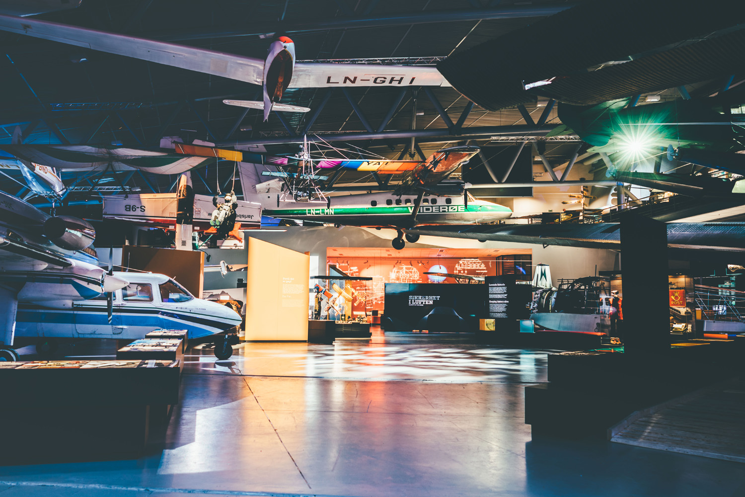 The Norsk Luftfartsmuseum explores how the development of civilian flight revolutionised Norway by connecting people in remote and isolated regions to the rest of the world.