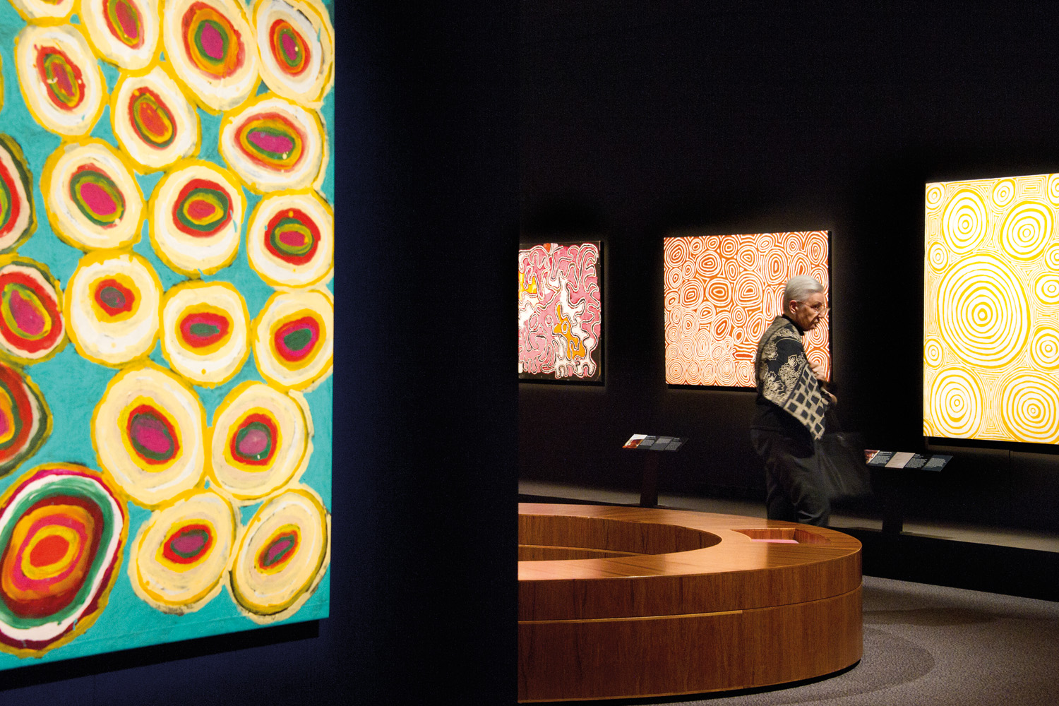 he works of senior and emerging artists were utilised alongside the stories of traditional custodians, allowing the visitor to become immersed in these cultural and historical perspectives.