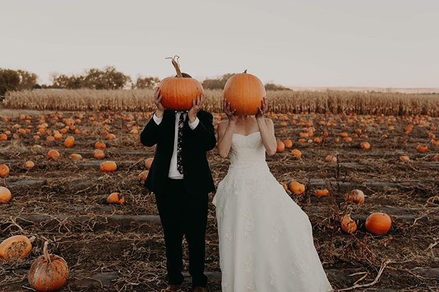 You know your people are your people when they get married at a pumpkin patch and the bride wears @keds 🖤