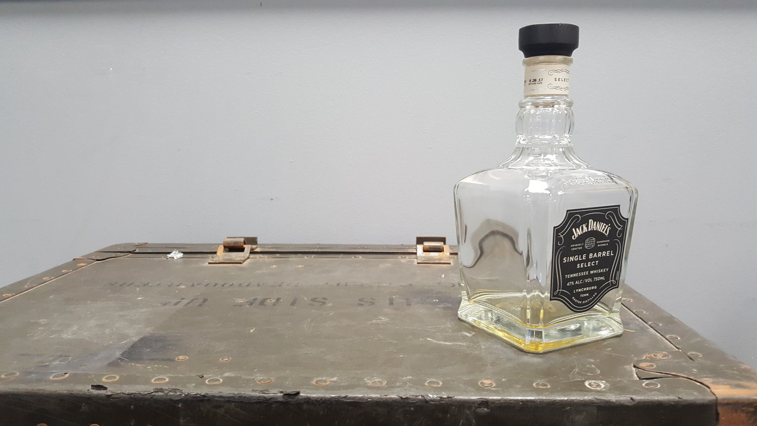 The bottle was rendered empty post the shoot
