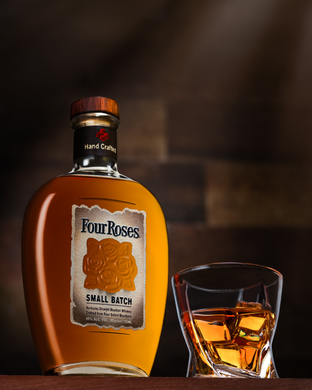 Nashville Beverage photography of Four Roses Bourbon