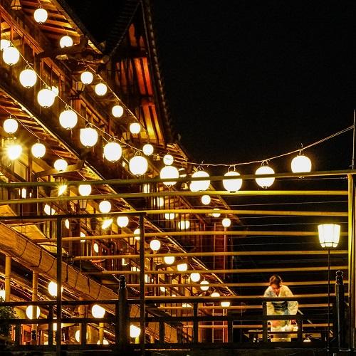 japan night lanterns kyoto
