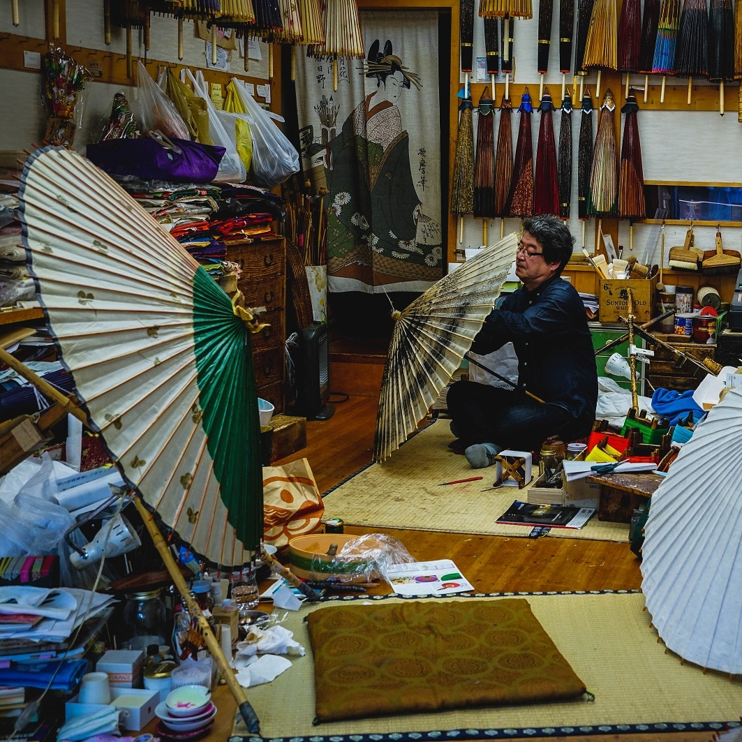 japan art umbrella workshop kanazawa