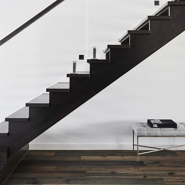 Our recently completed Project- Japanese black stained stairs to contrast the gorgeous textural timber floor. -  #monochromatic #modernhomes #modernarchitecture #architecturedaily #architecturephotography #melbournehomes #homedecor #homedesign #kustomtimberfloors #ironsonshomes #interiordesign #interiors #interiordesigner #interior_and_living