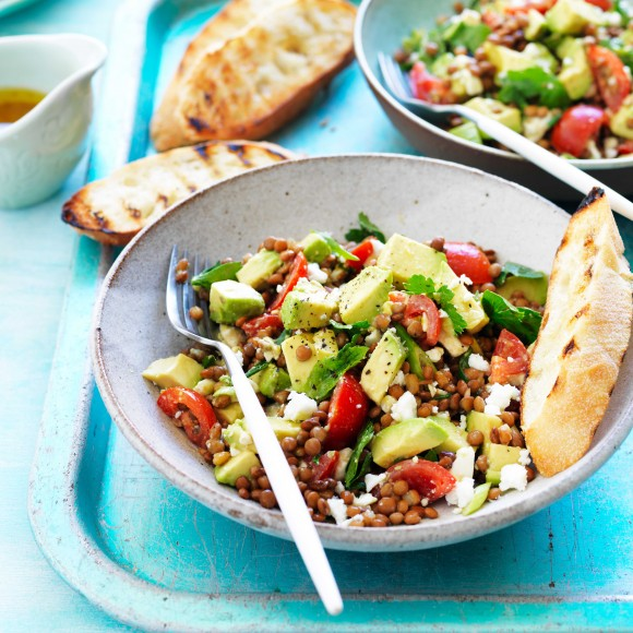 Avocado and Lentil Salad