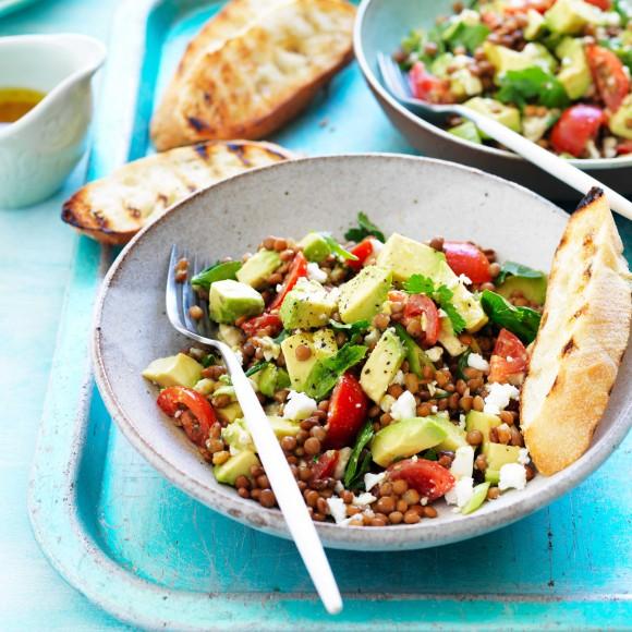 Avocado and Lentil Salad