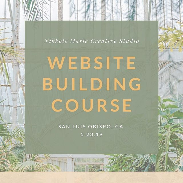 This feels so crazy. Although after the week I've had nothing really feels crazy anymore. Guys, I'm announcing my first class! If you have been wanting to build your own website and haven't known where to start.... May I suggest this class? Let's spend 6 weeks together learning how to build your dream website on squarespace. 🌱✨ This is a steal you guys! This is the easiest way to work with me AND teach yourself a new skill for life! Starts May 23rd in SLO, CA. Check out the link in my bio for more info. DM me your questions. I can't wait! 🥳  Happy Saturday! 🙌