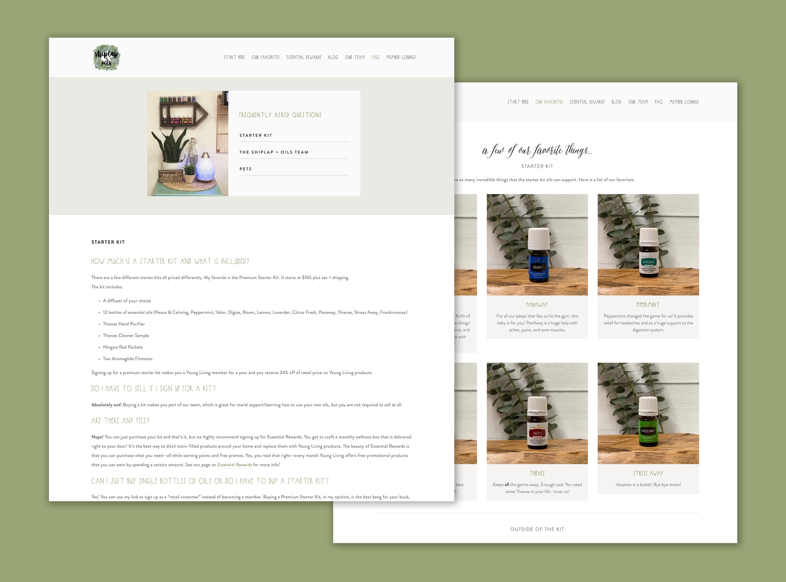 Shiplap and Oils Web Design