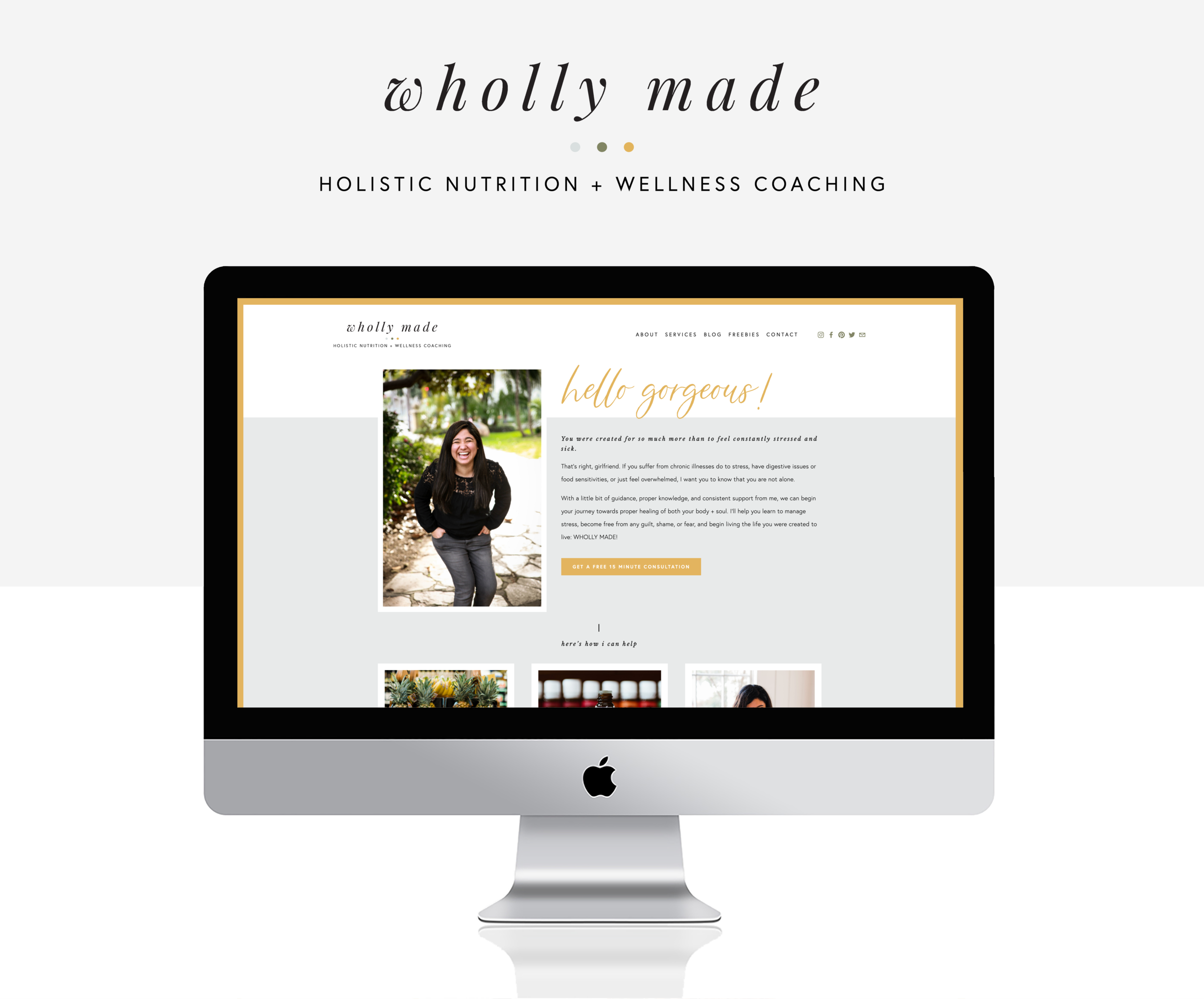 Wholly Made Homepage
