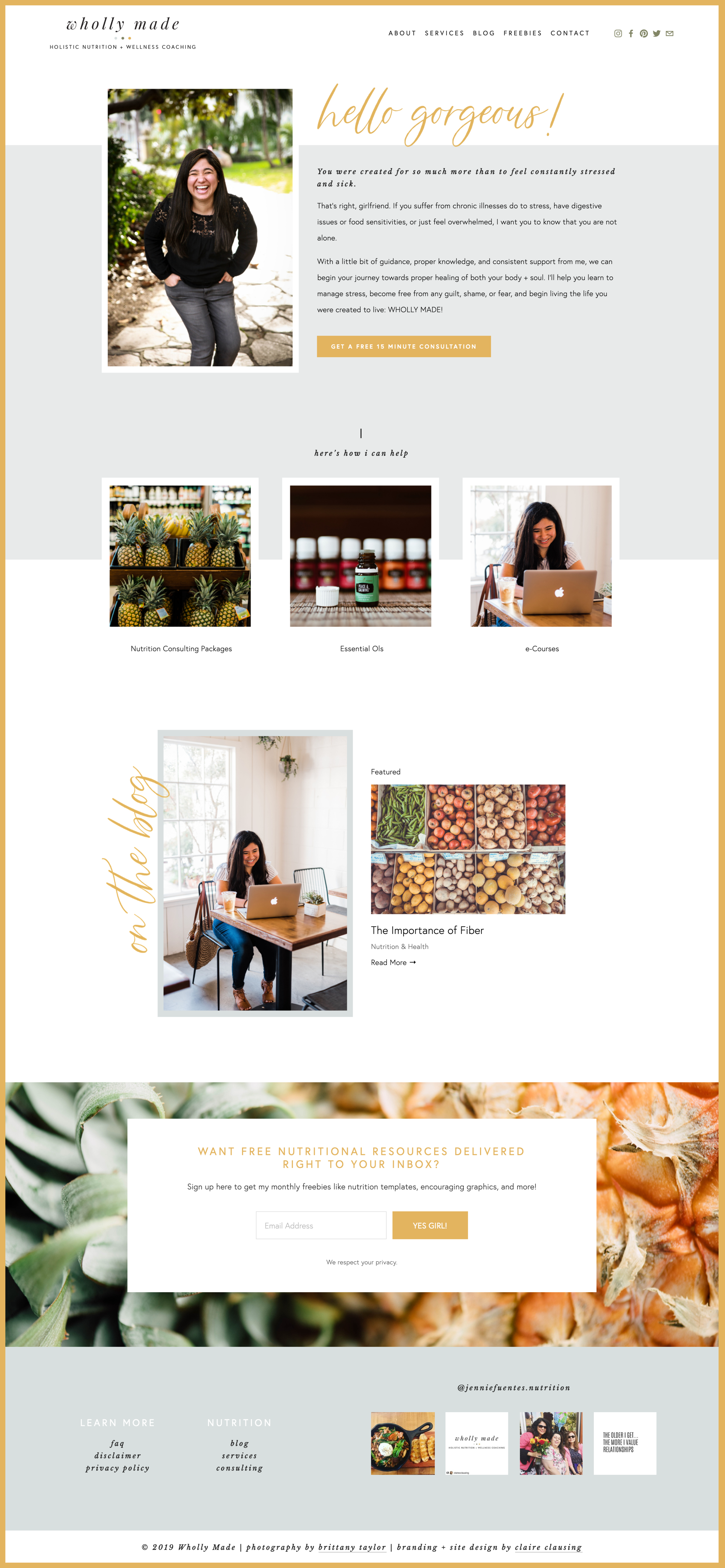 Wholly Made Squarespace Design
