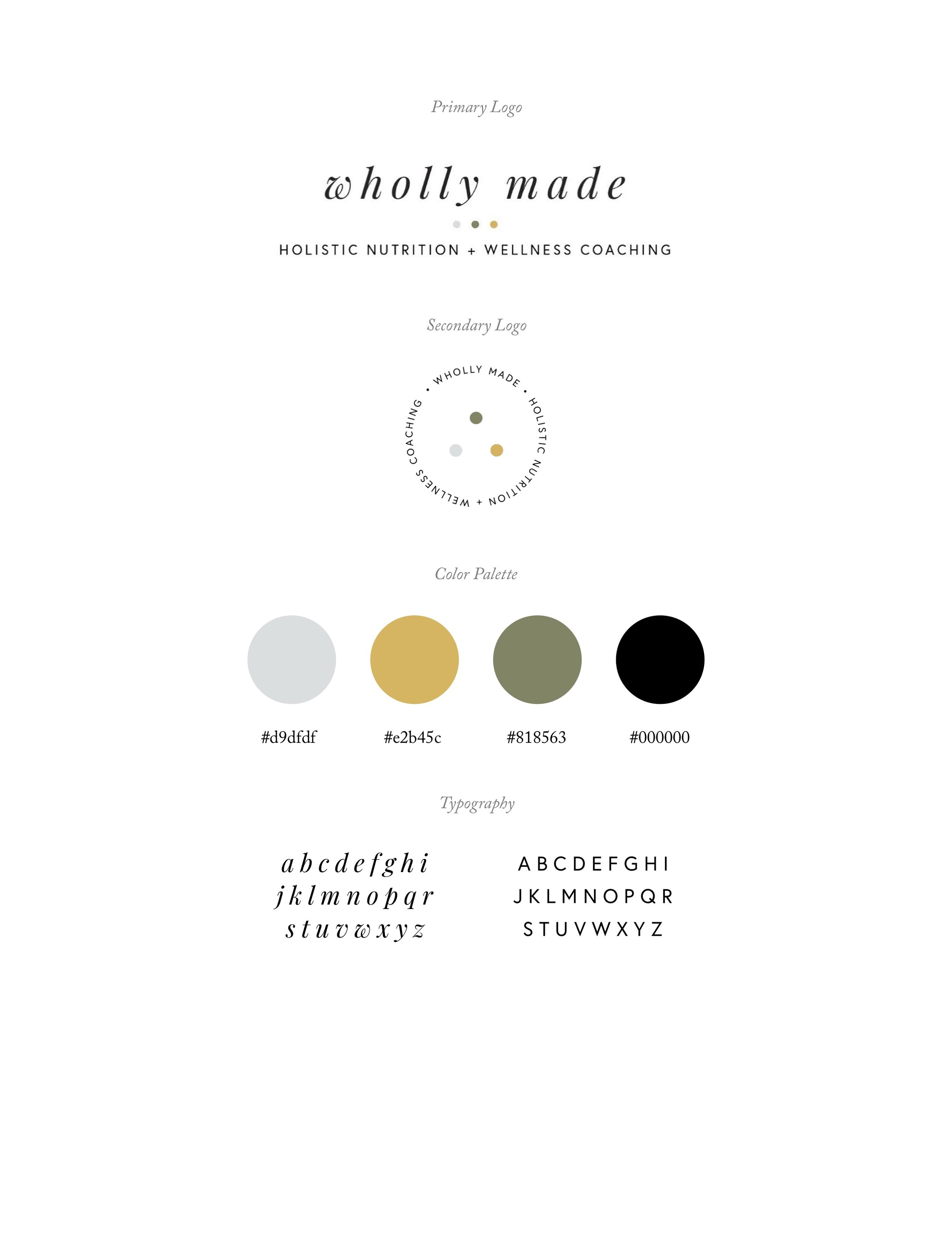 wholly made branding