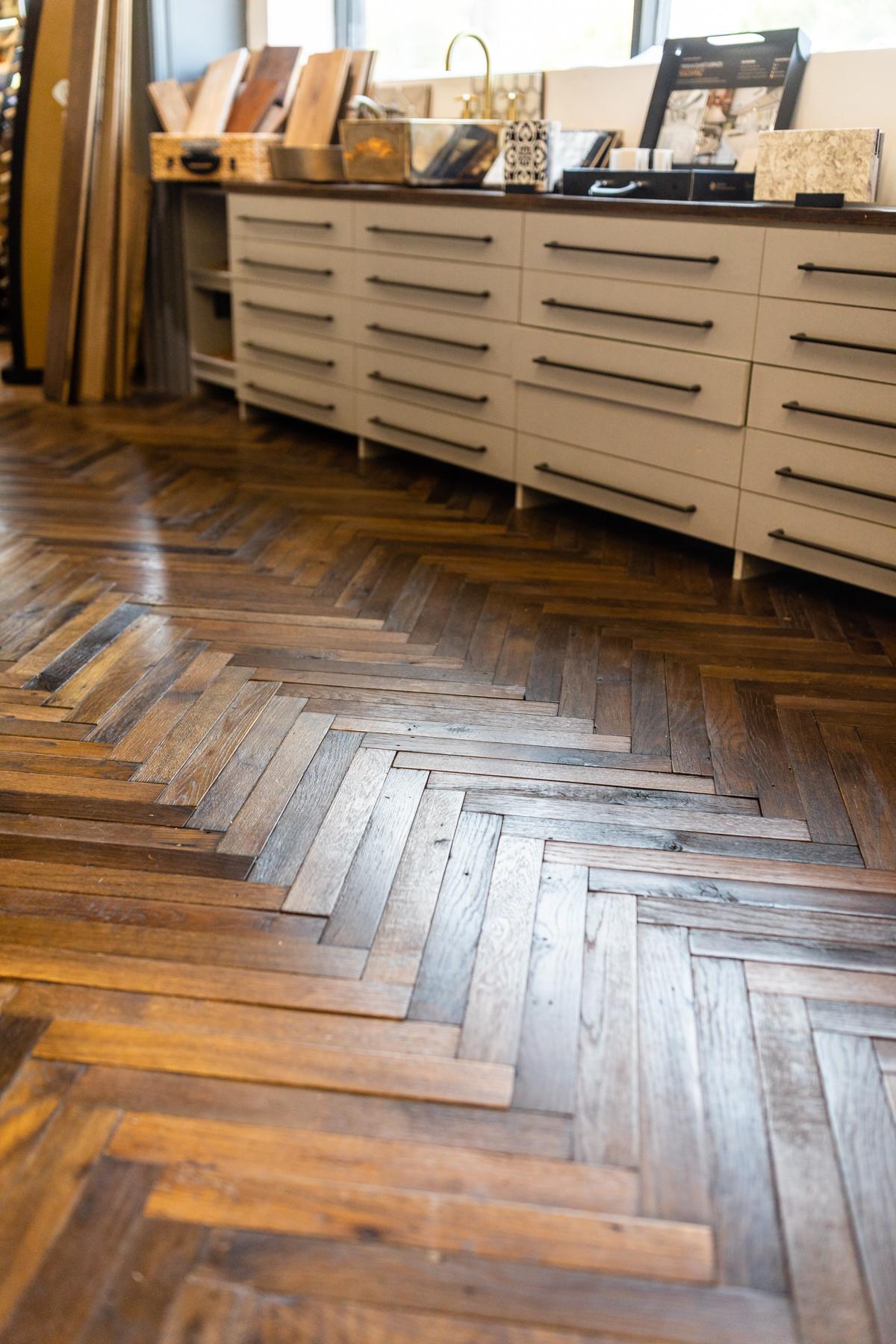 Antique Wood Showroom Floor