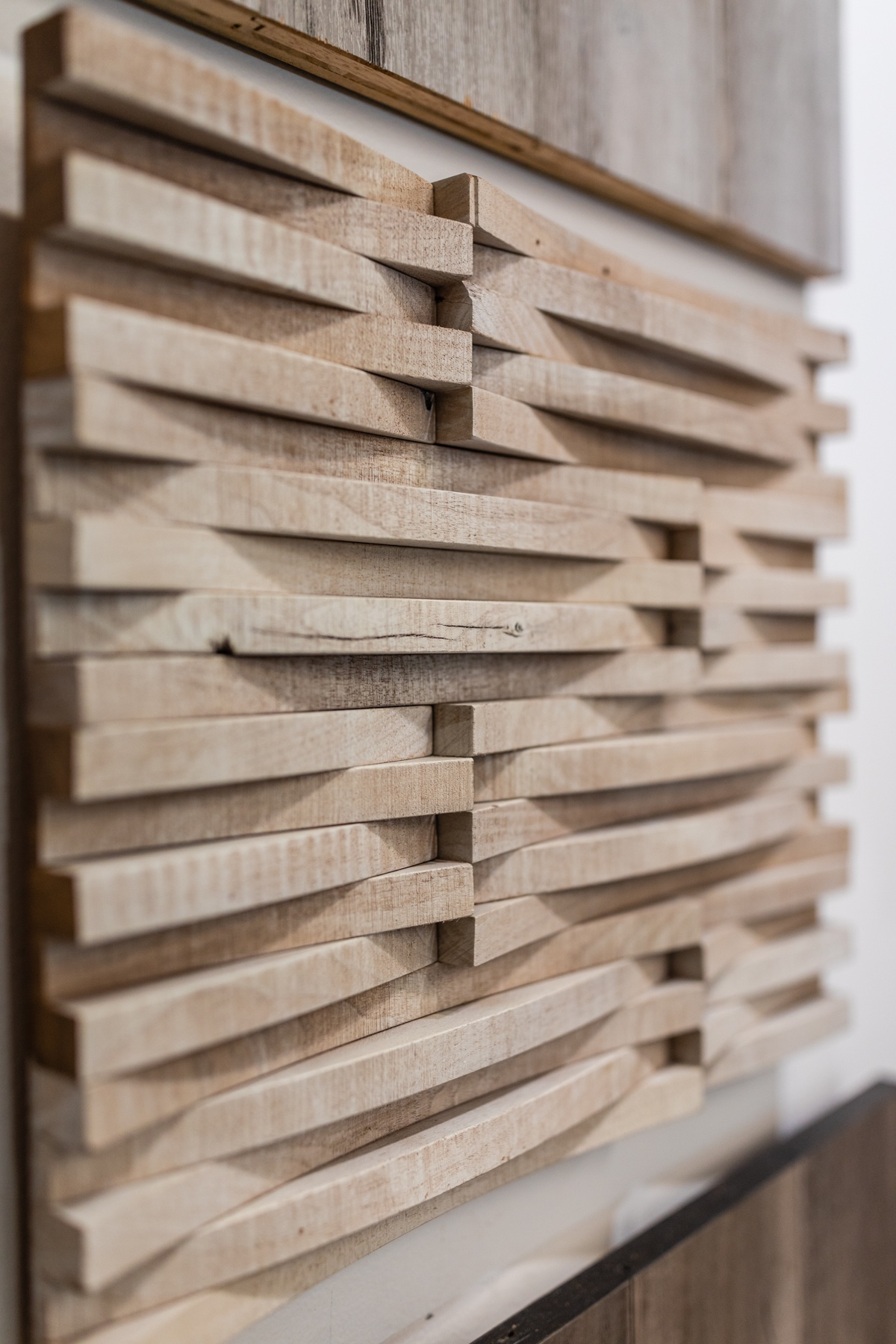 Stacked Wood Wall Covering