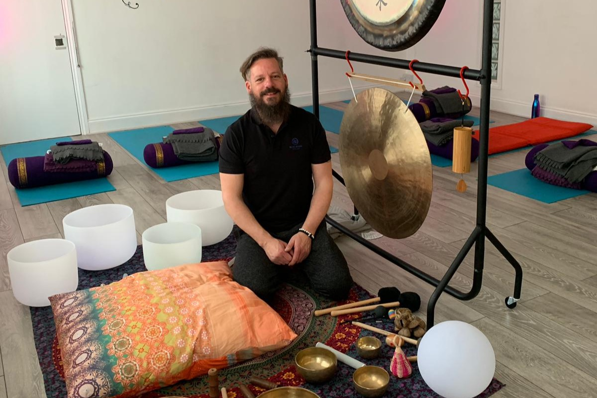 Sound Bath and Guided Meditation with JollyBeats and akarmalife Studios - Close your eyes and switch off from the busy-ness of the day as you relax to the sound of Singing Bowls and Gongs. Played live, these soothing sounds will wash over you to create a sense of calm and deep relaxation. Followed by a Yoga Nidra guided meditation to leave you refreshed and recharged for the week ahead. A deeply restful practice that is especially helpful for anyone who struggles to 'let-go' or 'switch-off'.Graham Jolly is currently a student of BAST (British Academy of Sound Therapy) and completes his professional diploma in Group Sound Therapy in July. He leads monthly Sounds Baths at akarmalife studios in Ampthill and surrounding area. Olena Baker is an experienced RYT500 yoga teacher and certified iRest Yoga Nidra Meditation teacher. She teaches classes, courses and workshops and sees private clients at akarmalife studios in Ampthill.Click here to register for your FREE session!