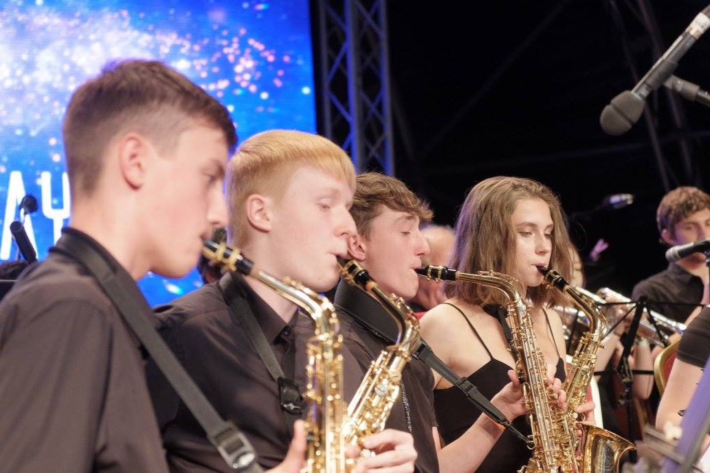Redborne Jazz Band - The Redborne Jazz Band are very pleased to performing again the Ampthill Proms this year. The band rehearses each week at Redborne Upper School and they perform at school regularly in concerts both in an out of school. This year they have been sponsored by the Ampthill and District Rotary who have been fundraising on behalf of the music department. The band includes students from each year group of the school and they are all committed to working hard to learn a wide range of repertoire. Earlier this term they performed in their annual Jazz Café which was a great success.