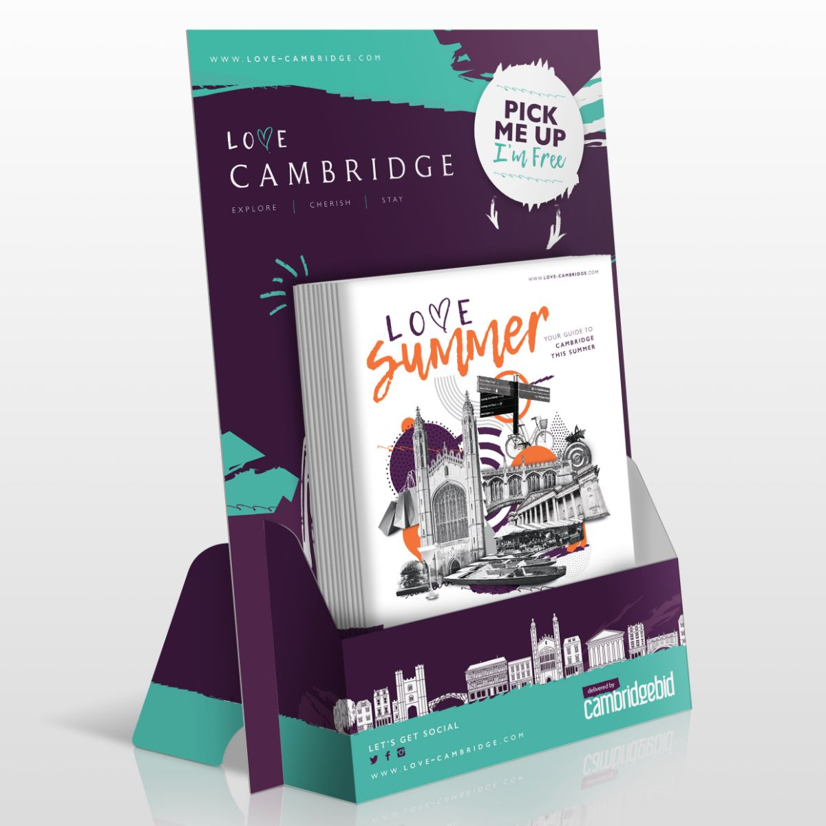 Love Summer Magazine - A brand new seasonal magazine designed to showcase all that Cambridge has to offer including Shopping, The Arts, Parks & Open Spaces and the huge cultural offer.Read online here or pick up for free around the city.