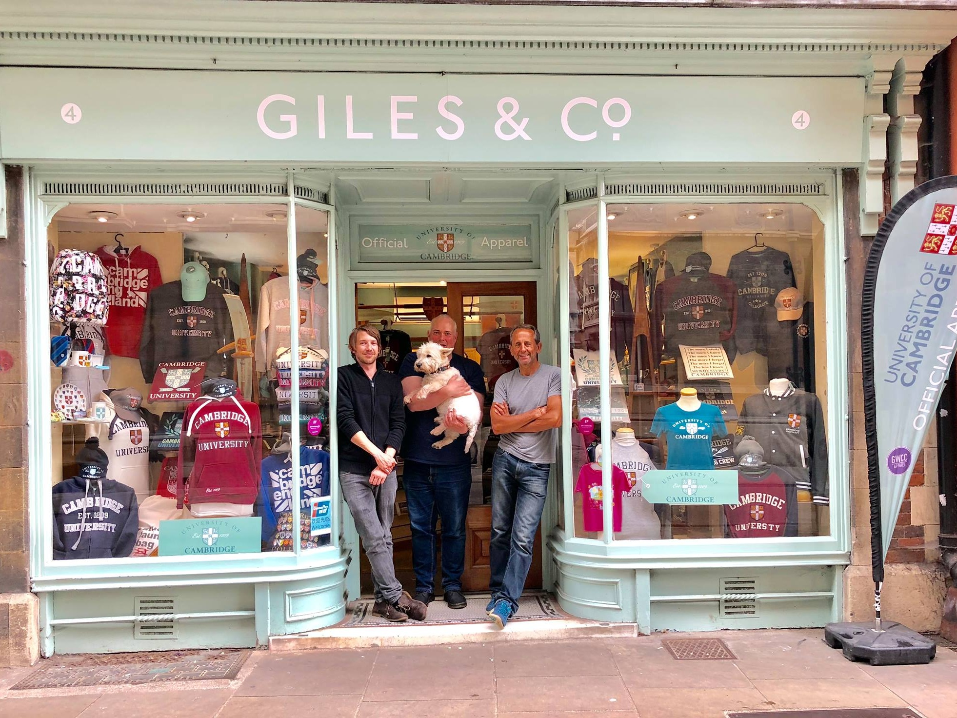 Giles & Co - Win a Cambridge goodie bag, including a sweatshirt and a selection of gifts