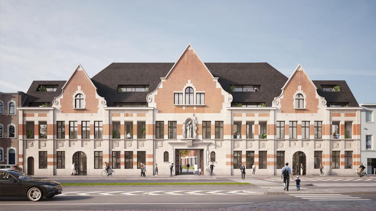Oude God Mortsel - Architectuurbeeld - Voorgevel Sint-Lutgardisschool (2).png