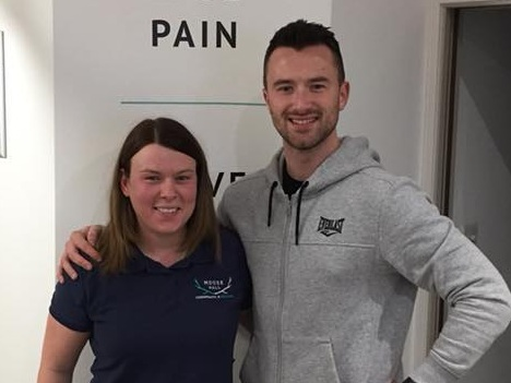 """""""I CAN'T RECOMMEND SAM AND THE TEAM ENOUGH."""" - """"I've been going to Moose Hall for chiropractic treatment for 5 months now and there's not a headache in sight! I put my headaches down to dehydration and had no idea that having my neck adjusted could help so much It's helping to keep my back in check too. It's so important to me to remain fit and healthy. I can't recommend Sam and the team enough.""""- JOE, PERSONAL TRAINER"""