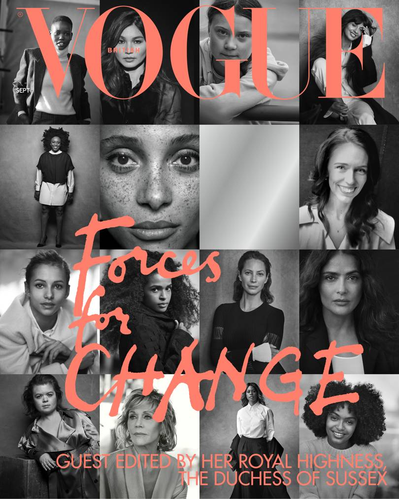 "HRH The Duchess Of Sussex Guest Edits The September Issue Of British Vogue - The September 2019 issue, entitled ""Forces for Change"", highlights trailblazing female changemakers – from activists to artists, prime ministers to climate change campaigners – who are breaking barriers and setting the agenda across the globe."